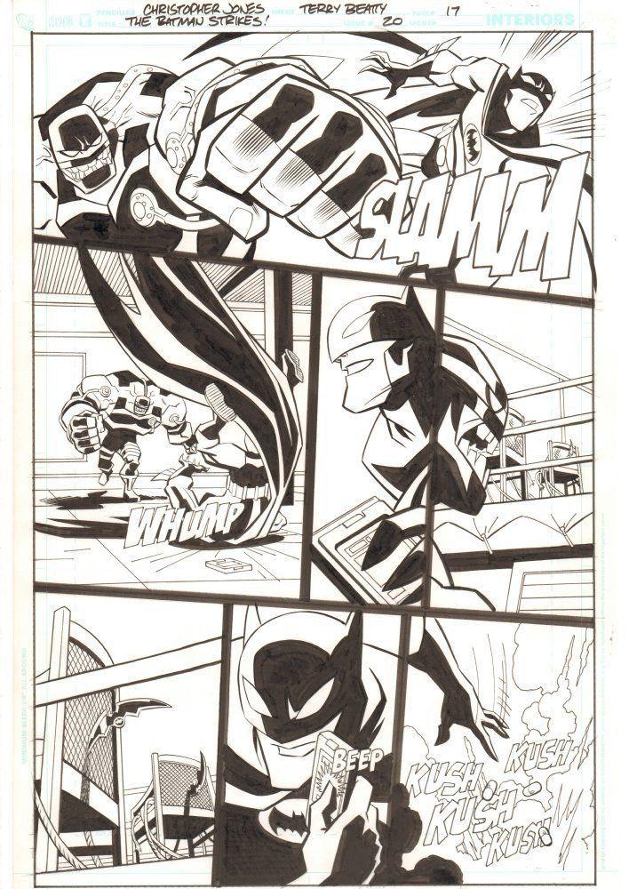 The Batman Strikes #20 p.17 - Batman vs. Bane Action - art by Christopher Jones