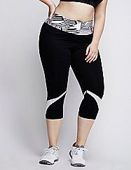 The mesh insets on this LIVI Active cooling capri legging don