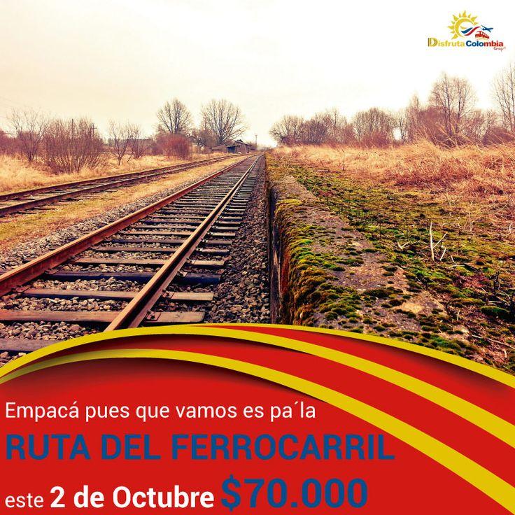 #preparatumaleta que nos fuimos pa' la #rutadelferrocarril con #disfrutacolombia