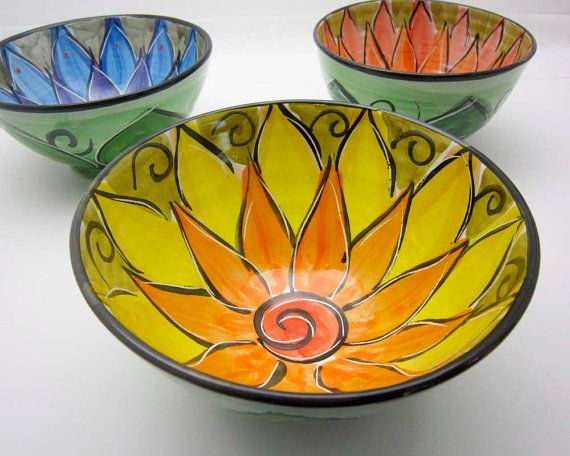 Majolica Pottery Bowl Clay Yellow Orange by ClayLickCreekPottery, $ 30.00