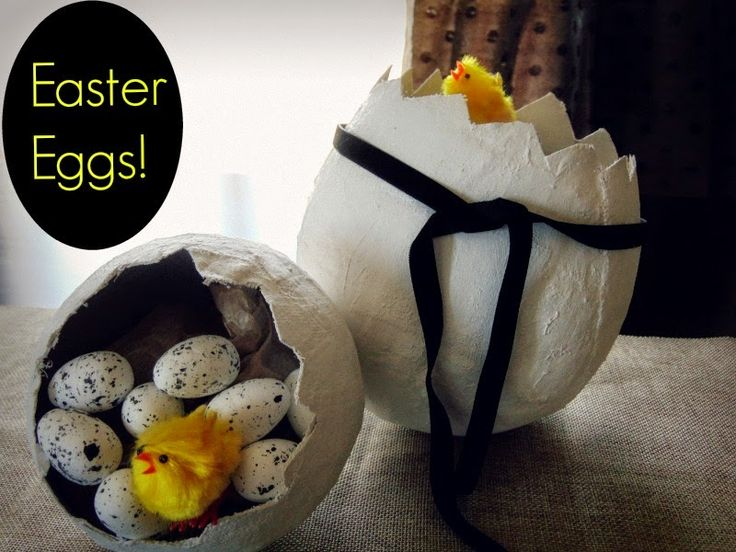 Plaster easter eggs