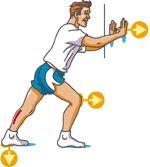 etirement du mollet ou triceps sural