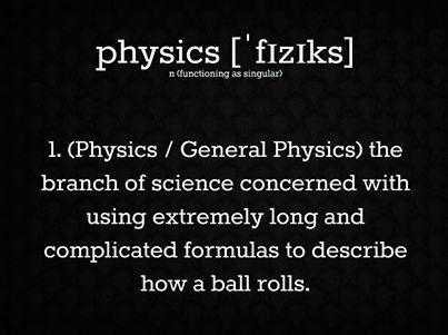 Sigh...physics...