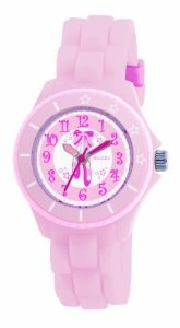 Tikkers Girls Baby Pink Ballet Slippers Rubber/Silicone Strap Watch TK0019,