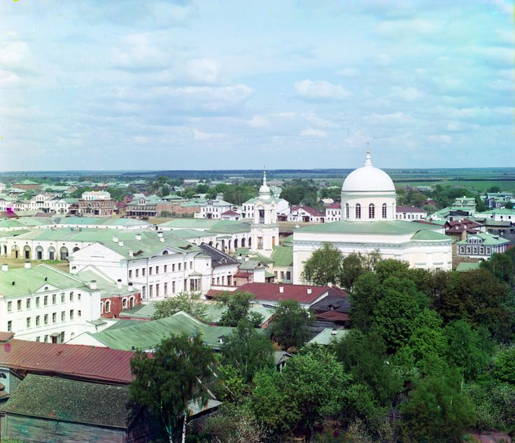 (1910)  City of Rzhev. Taken from the bell tower of the Assumption Cathedral.