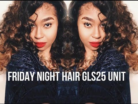 Friday Night Hair Review|| Wig Unit GLS25 - YouTube