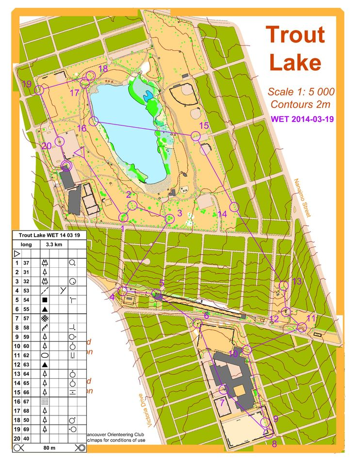 March 19th 2014 6:30pm - Trout Lake - Advanced: long + short course