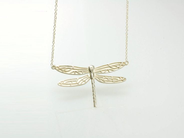 Dragonfly Necklace - Medium. NZ$259 Silver. This stunning dragonfly necklace was created in our Nelson workshop in sterling silver. We designed a smaller version of our majestic dragonfly brooch so it can be worn as a necklace.  Jewellery made @jewelbeetle in Nelson, New Zealand.