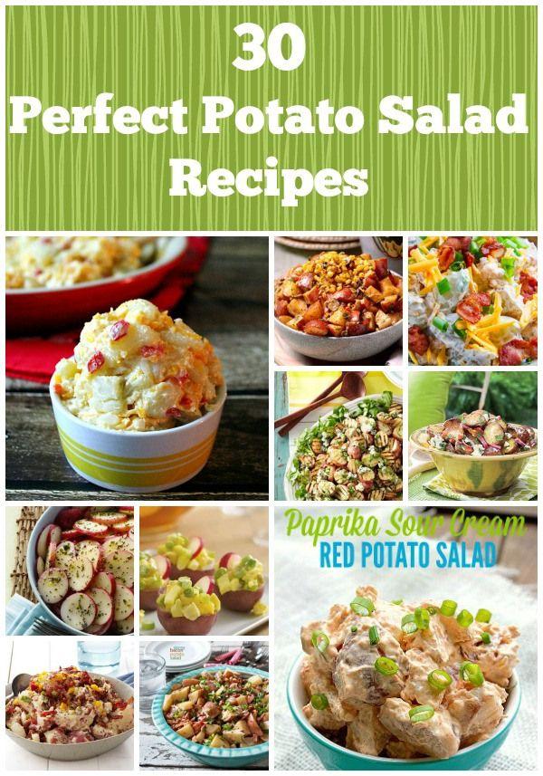 30 Perfect Potato Salads Find the perfect potato salad for your picnic!  #potatosalad #roundup