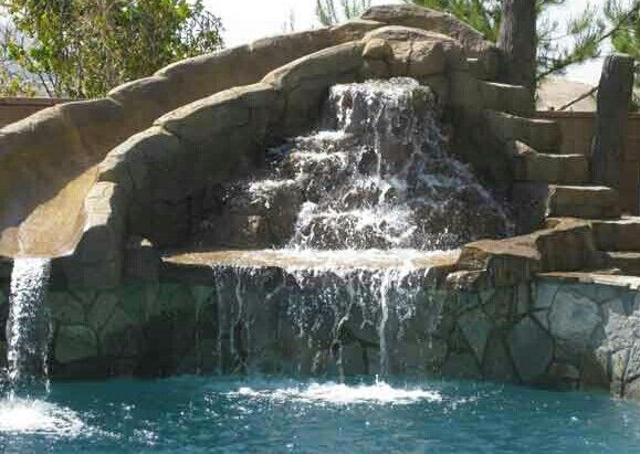 23 best pool ideas images on pinterest pool slides backyard - Swimming Pools With Waterfalls And Slide