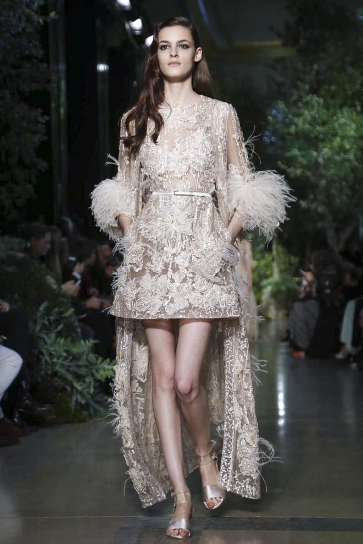 Весенняя нежность в новой коллекции Elie Saab Haute Couture : Коллекция Elie Saab Haute Couture сезона весна-лето 2015 / фото 1