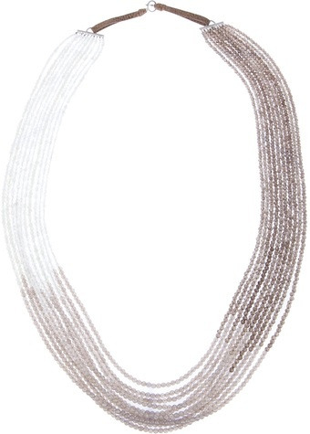 Brunello Cucinelli Beaded Panel Necklace