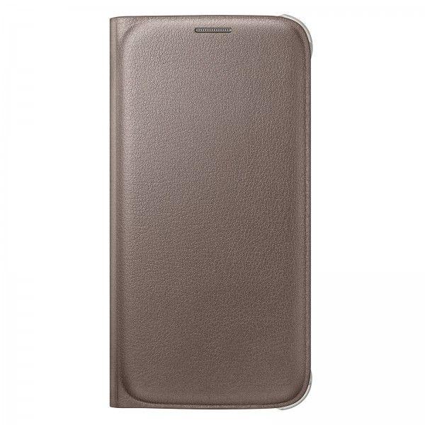 Etui Flip Wallet Or pour Galaxy S6 - Vente et achat en ligne des tablettes smartphones téléphones et accessoires au Maroc.
