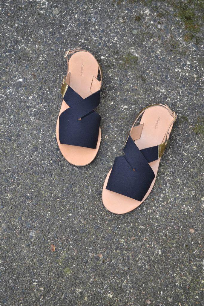 osklen neoprene flat sandal.