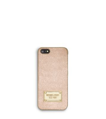 For the fashionista: Michael Kors tech-cessory metallic leather phone case.