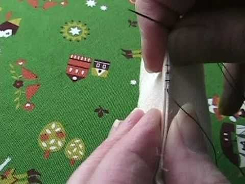 extremely helpful video on how to close an opening using a ladder stitch (making it practically invisible)