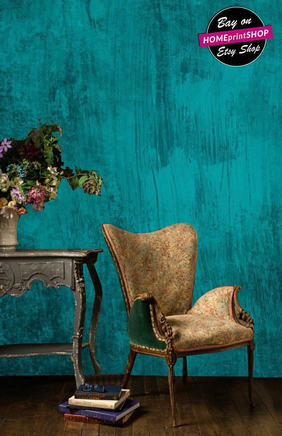 Textured green brush background wallpaper - wall art decor - Removable Self Adhesive peel and stick wallpaper / wall mural #27