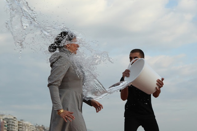 Eleftheria Kalpenidou Photography:  Biennale 3 Thessaloniki- Festival performance:   Nezaket Ekici,   On the way-Safety and Luck