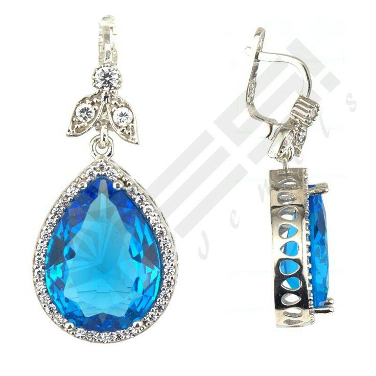 Sterling silver #aquamarine #earrings