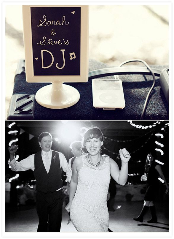 """I love the sign for their """"DJ""""! I think this might be the solution for us"""