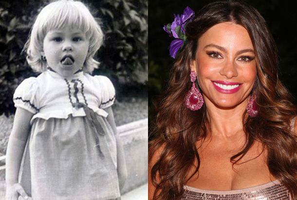 Sofía Vergara As a Child and Sofía Vergara in 2012