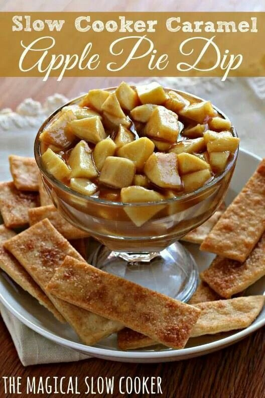 Slow cooker Carmel Apple dip