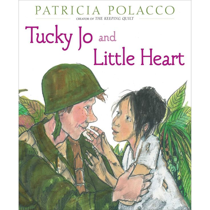 """Tucky Jo and Little Heart"", by Patricia Polacco.    A fifteen-year-old soldier in World War II meets a sweet young girl in the Philippines who helps him remember what he is fighting for as he helps her and others of her village avoid starvation, and many years later she returns his kindness."