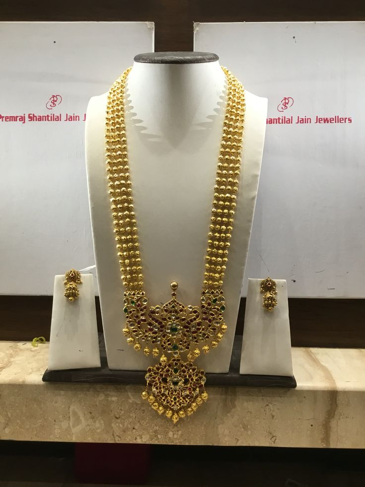 140 GMs long necklace #Indian #Jewellery