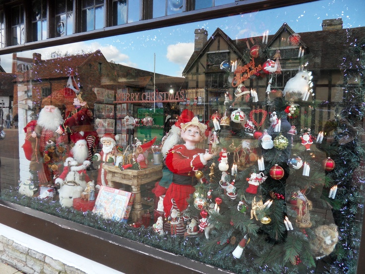 The Christmas Shop in Stratford upon Avon.  I love Christmas baubles!