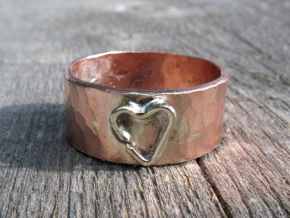 Salvaged copper ring. LOVE THIS!!!