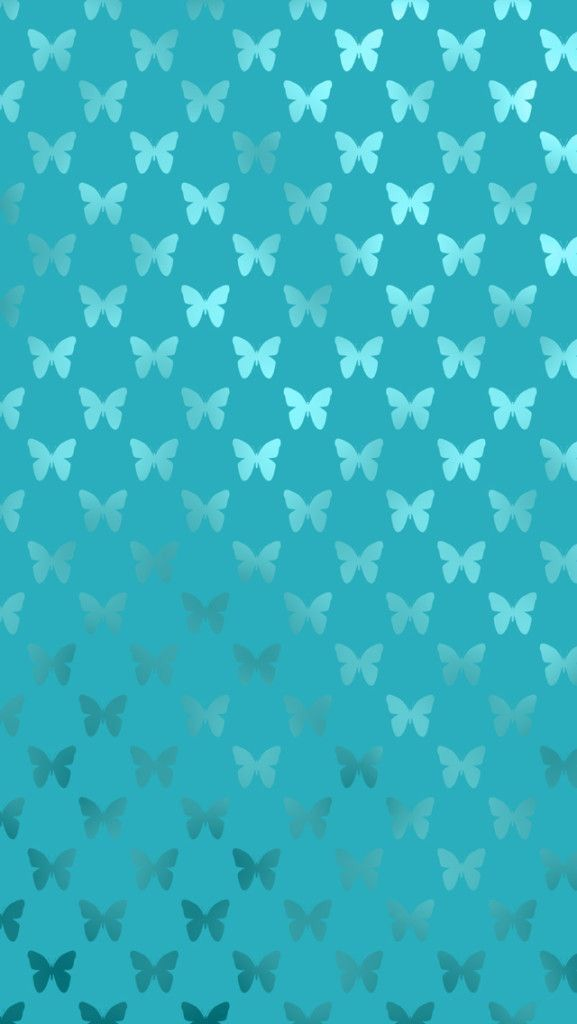 Wallpaper iPhone- Metallic Turqouis butterfly wallpaper ❤❤❤