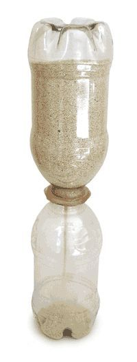 Make your own beautiful egg timer using sand and soda bottles!! Then figure out the time it takes for your bottle to drain. Great for teaching time!