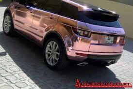 Rose pink Range Rover