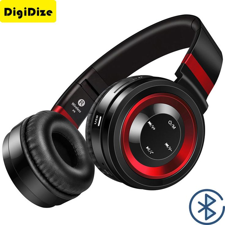 Wireless Headsets Bluetooth Headphones with Mic Support TF Card FM Radio