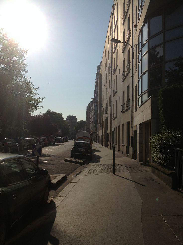 Paris soleil de matin de juin fraîcheur de Novembre
