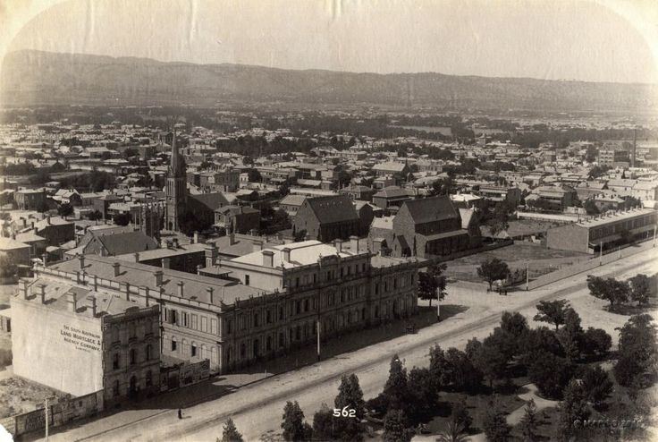 Birds Eye View Of Adelaide From Victoria Square c1900