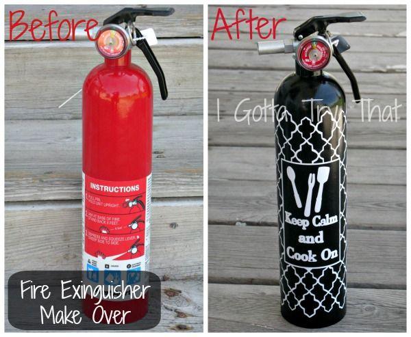 DIY Fun Fire Extinguisher Make Over
