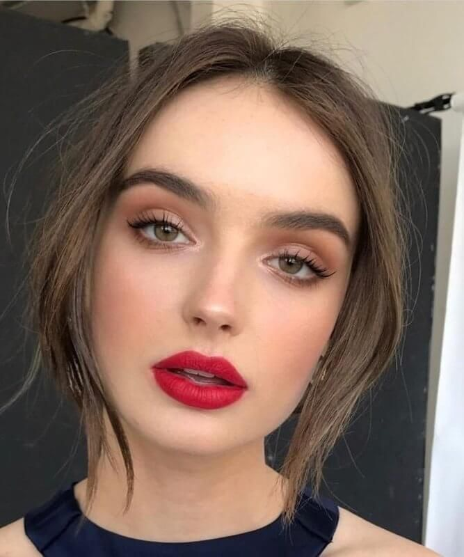 Soft Glam Makeup Look With Red Lips Easy Glam Makeup Looks Soft