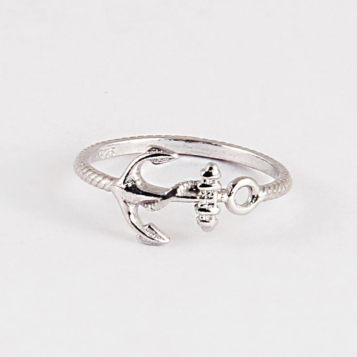 Sterling Silver Anchor Knuckle Ring #jewelry #nautical