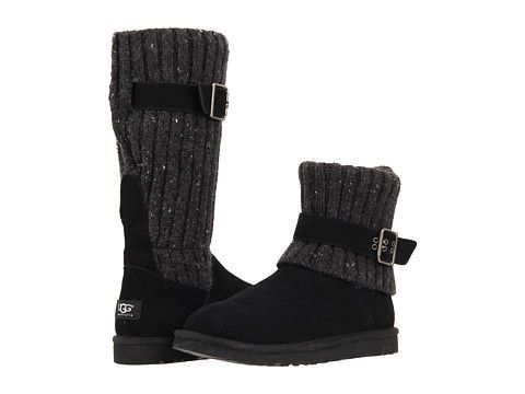 Convertible suede and cable-knit boots from UGG Australia. #boots #shoes #shoelove