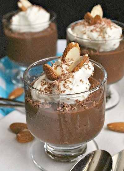 Chocolate Almond Pudding made with almond milk.  I will use truvia instead of the sugar.    by Suzanne|You MadeThat?, via Flickr