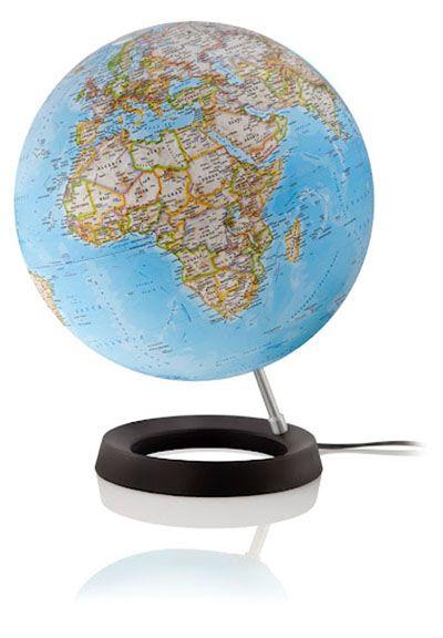 Oxygen Classic Globus, Aluminium-Schrägstütze, Fuß aus Kunststoff