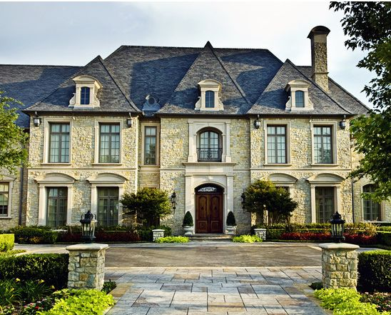 chateau inspired private residence country french traditional exterior dallas fusch architects inc