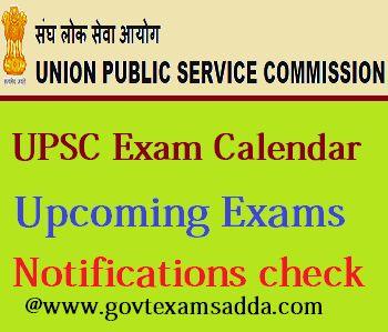 UPSC Exam Calendar 2018-19