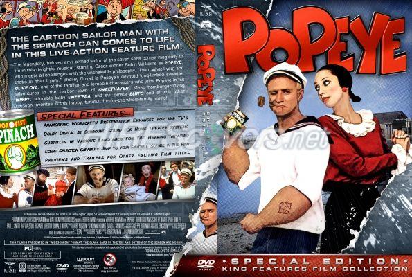 King Features Films Popeye 1980 Dvd Sleeve By Kernie