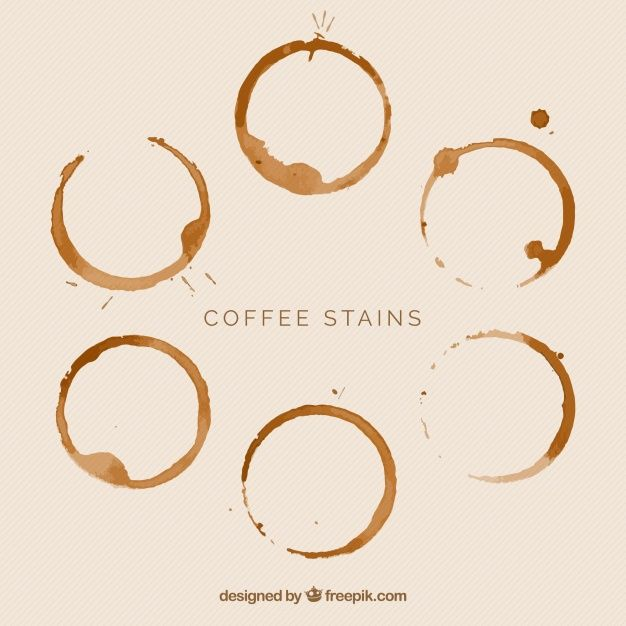Download Realistic Coffee Cup Stain Collection For Free Coffee Graphics Logo Design Coffee Coffee Ring Art