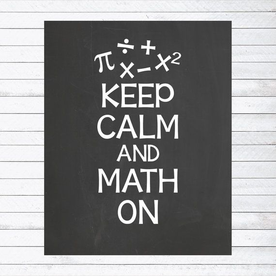 Gift for Teacher // Classroom Wall Art // Keep Calm and Math On by PersonalizedChalk, $10.00