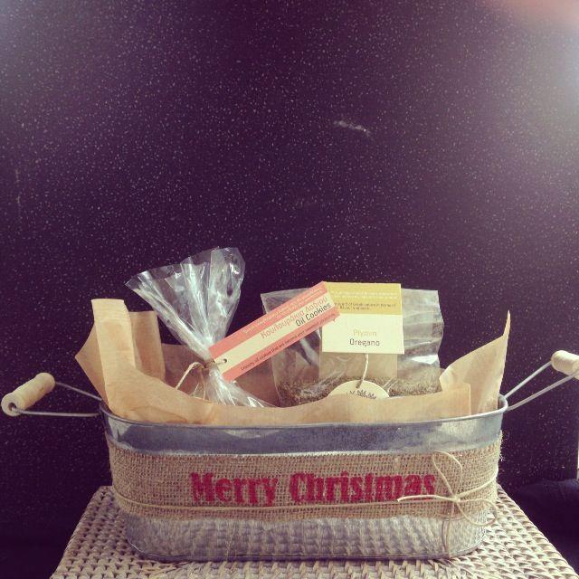 Tin Bread basket packaging #greek #christmas #gift # packaging