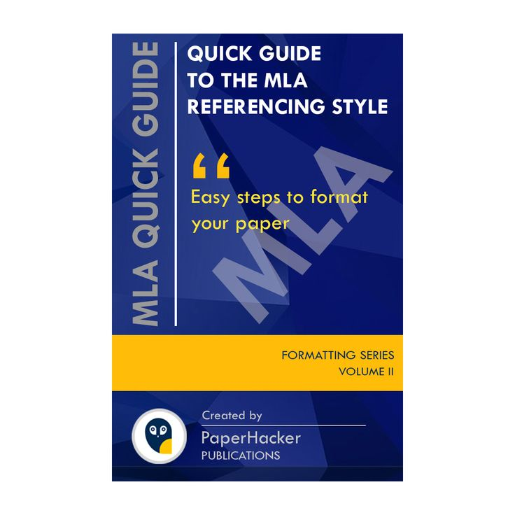 A quick guide for students on mla formatting how to