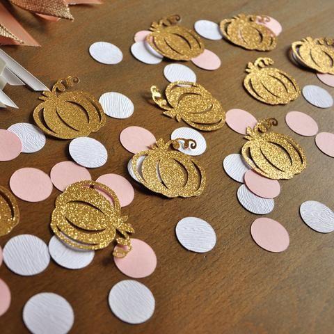 Pumpkin Girl Birthday. Pumpkin Confetti. 50CT. Handcrafted in 1-3 Business Days. Pumpkin 1st Birthday Decorations.